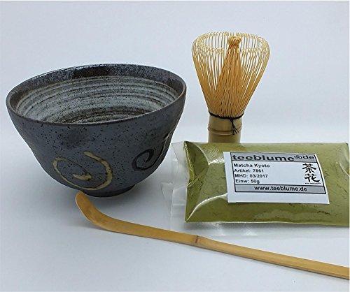 Matcha Set de thé japonais Matcha – Bol Chasen, Chashaku, 50 g de thé matcha