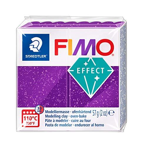 Staedtler Fimo Effect 8020-602 Argilla 56g - Lilla Glitter
