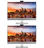 HP EliteDisplay E273m 27 Inch LED Backlit IPS Monitor 2-Pack with Built in Speakers and Webcam, FHD 1920 x 1080 (1FH51A8#ABA)