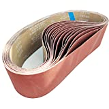 4-Inch x 36-Inch Aluminum Oxide Sanding Belts, 80/120/150/240/400 Assorted Grits, 15-Pack