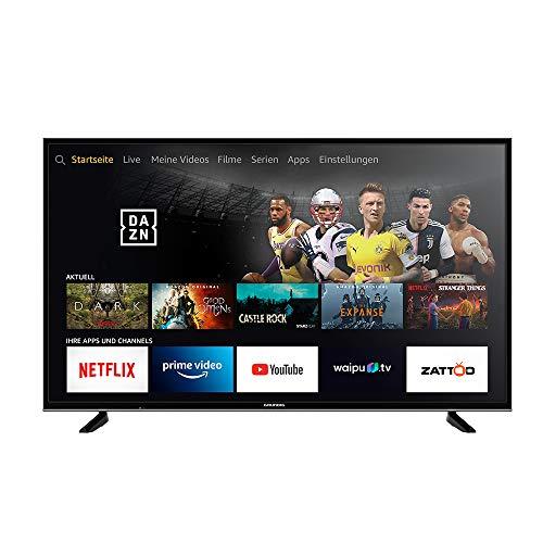 Grundig Vision 7 - Fire TV Edition (55 VLX 7010) 139 cm (55 Zoll) Fernseher (Ultra HD, Alexa-Sprachsteuerung, HDR) schwarz [Modelljahr 2019]