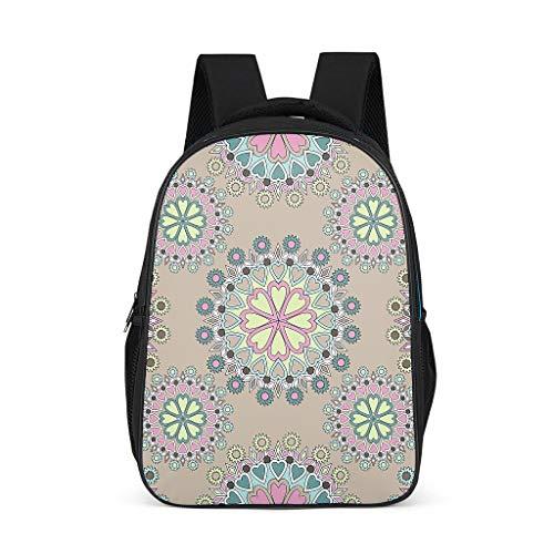 Mochila de flores mágicas mandalaa plantas Diseño Bookbag multifunción Daypack casual bolsa para hombres mujeres, color, talla Talla única