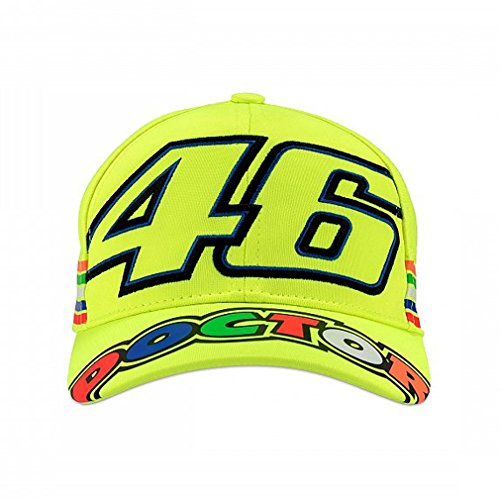 Valentino Rossi VR46 Moto GP The Doctor Stripes Amarillo Niños Gorra
