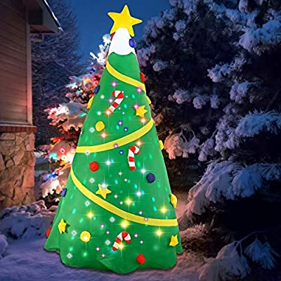 8ft Self-inflatable Christmas Tree with Built in Lights