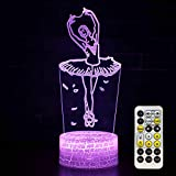 Ballet Night Light Kids Bedside Lamp Ballerina Gifts 7 Colors Changing with Smart Touch & Remote...