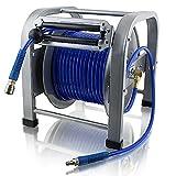 30 Meter PU Schlauch Druckluft Schlauchtrommel Automatik Druckluftschlauchtrommel Trommel Aufroller