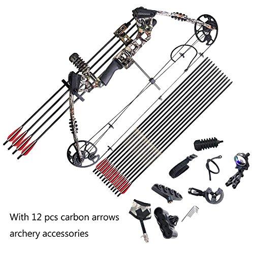 Funtress Compound Bow 17 '-29' Disegna 20lb-70lb Disegna Peso con Velocità Max 310fps 320 FPS IBO Destro Destra Outdoor Caccia Archi e Frecce Tiro con Arco