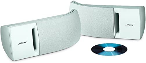 Bose 161 speaker system (pair, white) – ideal for stereo or home theater use – 27028
