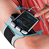 E Tronic Edge Rotatable Running Armband Cell Phone Holder for Running or Walking - Universal Phone Arm Bands for iPhone 12 Pro Max 11 X XR & Android Samsung Galaxy S9 S8 & Google Pixel (Black)