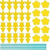 QIWEIS Trampas Amarillas Insectos Moscas De Doble Cara Trampa para Insectos Voladores Moscas Fruta Trampa Trampa para contra Los Mosquitos De Hongos, Pulgones, Moscas Blancas, Trips(30 Piezas)