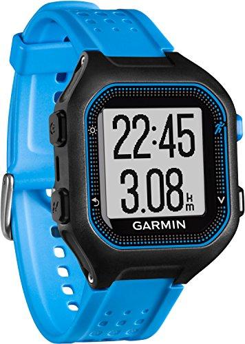 Garmin Forerunner 25 - Reloj deportivo, color negro y azul, talla L