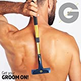 Groomarang dispositif d'épilation pour le dos et le corps - coupe-cheveux et coupe-cheveux multifonctions et rétractables pour hommes, outil de crème, back-in-it