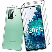 QITAYO for Samsung Galaxy S20 FE 5G Screen Protector and Camera Protector [3 Screen Protectors+2 Camera Protectors] Anti-fingerprint Anti-Scratch Tempered Glass