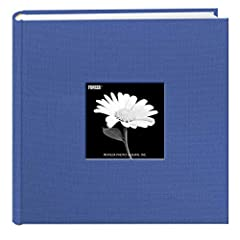 "Fabric cover features a frame to insert a favorite photo and a deluxe rounded bookbound spine 2-up album holds 200 photos up to 4""x6"" Patented Bi-Directional pockets hold horizontal or vertical photos Memo area next to each pocket Archival, photo saf..."
