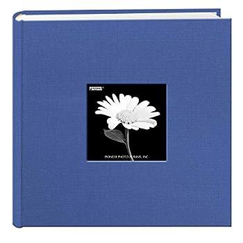 Fabric Frame Cover Photo Album 200 Pockets Hold 4x6 Photos Sky Blue