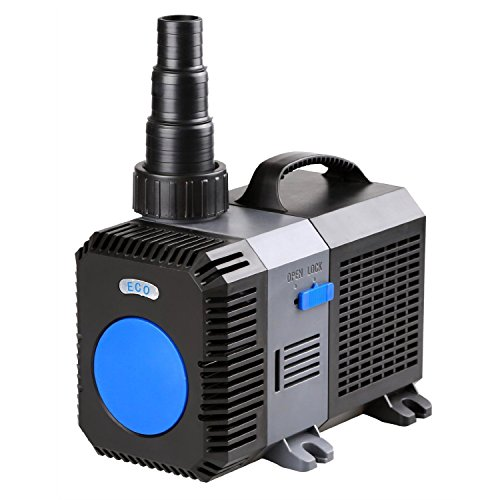 TRUPOW 4226GPH Flow Frequency Electric Inline Garden Submersible Pond Filter Pump for Fish Tank Fountain Aquarium Waterfall Koi Salt Fresh Water