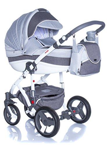 Adamex Vicco R10- Landau bébé,Siège Auto Poussette Version promenade Système 3en1, protection pluie, moustiquaire,