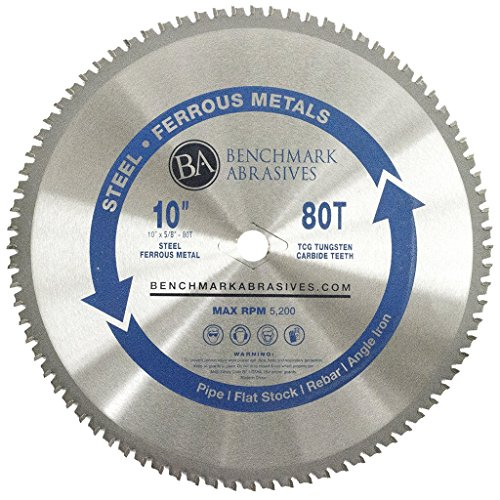 10' 80 Tooth TCT Saw Blade for Thin Steel & Ferrous Metals
