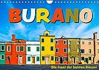 Burano - Die Insel der bunten Haeuser (Wandkalender 2022 DIN A4 quer): Die kleine Insel in der Lagune von Venedig in farbenfrohen Bildern (Monatskalender, 14 Seiten )