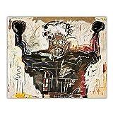 JLFDHR Jean-Michel Basquiat 《Sin Título (Boxer)》 Calle Graffiti Abstracto Lienzo Arte Pintura Al Óleo Obra De Arte Imagen Decoración Decoración del Hogar-70X80Cmx1 Sin Marco