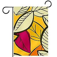 庭の装飾の屋外の印の庭の旗の飾り黄色の葉 テラスの鉢植えのデッキのため