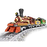 Bestoyz Classic Steam Coal & Wood Transporter Building Bricks Set, Collectible Old Aged Railroad Trains Track Kit Toys for Kids (483PCS)