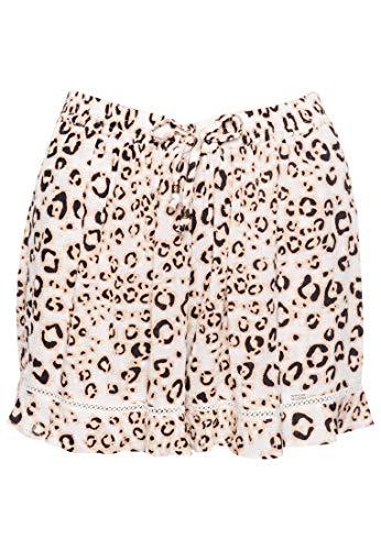 Superdry Damen Summer Beach Shorts, Mehrfarbig (Leopard Print 0UX), XXS (Herstellergröße:6)