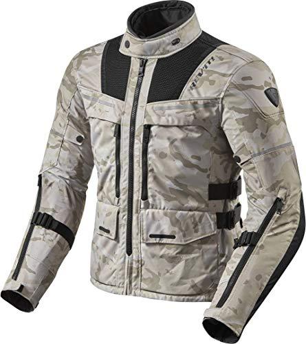 REV'IT! Motorradjacke mit Protektoren Motorrad Jacke Offtrack Textiljacke Sand/schwarz L, Herren, Enduro/Adventure, Ganzjährig, Polyester, beige