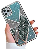 BANAILOA iPhone 11 Pro Max Diamond Case, Elegant Bling Glitter Rhinestone Phone Case,Protective Back Cover Cases Compatible with Apple iPhone 11 Pro Max 6.5-Inch(Green)