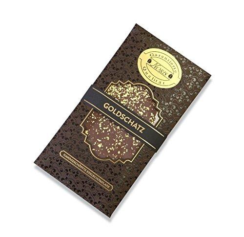 Goldschokolade Goldschatz Schokolade (65 % Zartbitter) mit 23 Karat lebensmittelechtem Blattgold