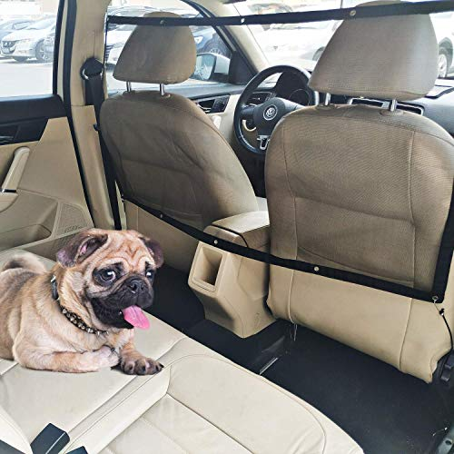 Car Dog Barrier Vehicle Backseat Mesh Universal Obstacle Stretchable Front Seat Pet Barrier