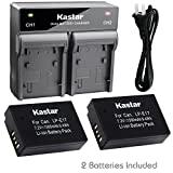 Kastar 2X Battery + Fast Dual Charger for Canon LP-E17 LPE17 LC-E17 & Canon Rebel SL2 T6i T6s T7i, Canon EOS M3 M5 M6, Canon EOS 77D 750D 760D, Canon EOS 800D 8000D, Canon KISS X8i X9i Digital Camera