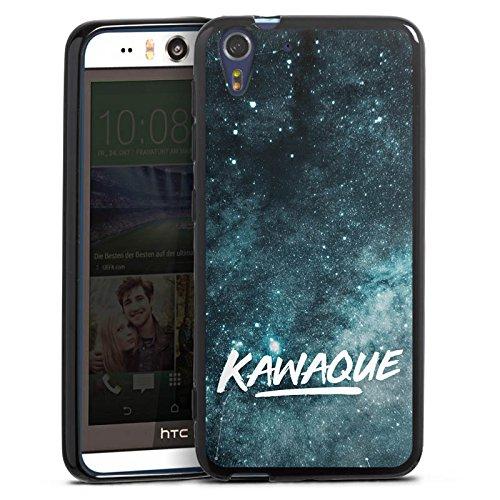 Silikon Hülle kompatibel mit HTC Desire Eye Hülle schwarz Handyhülle Kawaque YouTube Galaxie