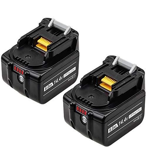 Reoben 【互換品】BL1460B マキタバッテリー マキタ14.4vバッテリー マキタ6.0ah バッテリー マキタ互換バッテリーマキタ バッテリー マキタBL1430 BL1430B BL1440 BL1450インパクト電池純正互換対応 2個セット