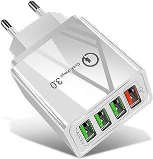 شواحن حائط الهاتف المحمول المحمول المحمول المحمول 30W QC 3.0 USB + 3 منافذ USB 2.0 منافذ الهاتف اللوحي PC شاحن عالمي سريع ...