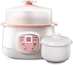 KTDT Elektrische pan voor eenpan, glazen koker met keramische coating van 0,8 liter, professioneel keukenservies met 24-uu...