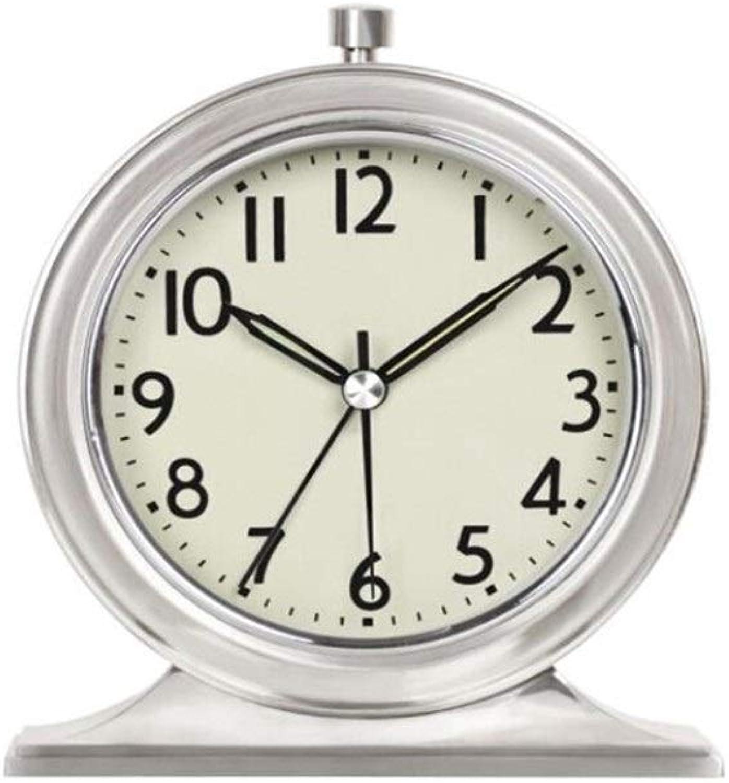 Chenjinxiang01 Alarm Clock, Creative Metal Alarm Clock, Luminous Classic Clock, Living Room Bedroom Table Clock, Green Paint, ( color   1 )