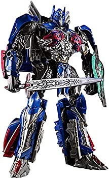 RSVPhandcrafted Transformer Robot Toys Last Knight Leader Class Optimus Prime KO Action Figure Toys 8.6 Inch Robot Toys Transformers Toys Studio Series Car Action Figure Oversize Robot Model Toys
