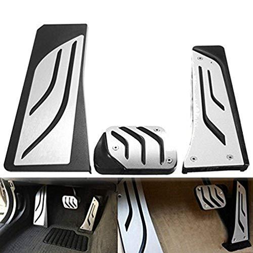 pedali pedale tappi Per 5 Serie G30 G31 G38 530i 540i 520d 530d 2007-2018,Pedale per macchine con cambio automatico Pedali poggiapiede alluminio con Gomma Antiscivolo