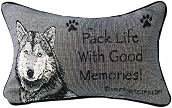Manual The Lodge Collection Reversible Throw Pillow, 12.5 X 8.5-Inch, Advice from a Wolf X Your True Nature