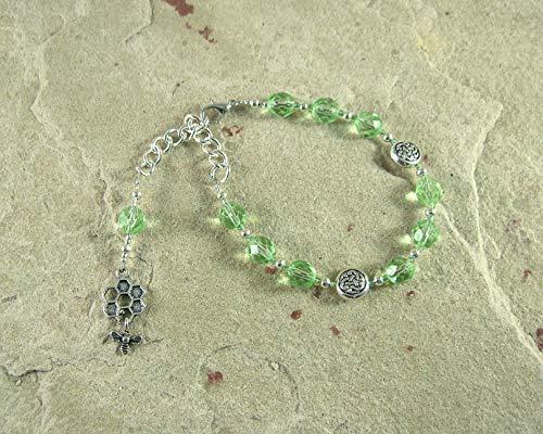 Nantosuelta Prayer Bead Bracelet: Gaulish Celtic Goddess of Fertility, Abundance and Home Arts