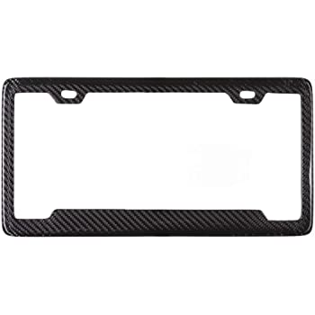Deepro 1pc Turbo Real Carbon Fiber License Plate Frame Tag Holder 911 Cayenne Panamera Macan