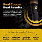 Knee Compression Sleeve by CopperJoint - Knee Support for Women & Men - Breathable Copper Infused Nylon - Non-Slip - For Pain Relief, Recovery, Swelling & Circulation – Single Sleeve Only (X-Large) #1