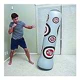 llddrz Saco Boxeo Saco de Boxeo Bolsa de perforación de Fitness Columna de Boxeo Inflable Engrasamiento 1.6M Niños Adultos Ventilación de Juguete Sandbag para Familia Patio Gimnasio