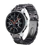 Yayuu 22mm Ultraligero Resina Correa Banda de Reloj Samsung Galaxy 46mm Liberación Rápida Pulsera de Repuesto para Gear S3 Frontier/Classic/Moto 360 2nd Gen 46mm/Huawei Watch 2 Classic/Ticwatch Pro