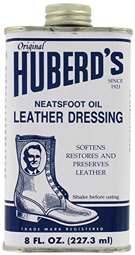 Huberd's Leather Dressing Neatsfoot Oil, 8 oz