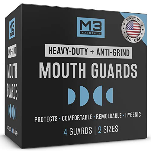 M3 Naturals Heavy Duty Mouth Guards for Teeth Grinding Night...