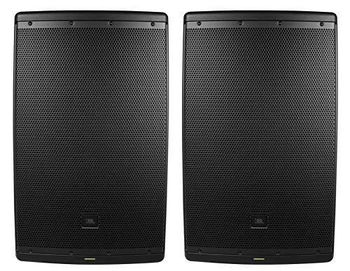 (2) JBL EON615 15' 2000 Watt Powered DJ PA Speakers w/Bluetooth App Control