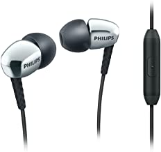 Philips SHE3905SL/27 In-Ear Headphones with Mic, Silver