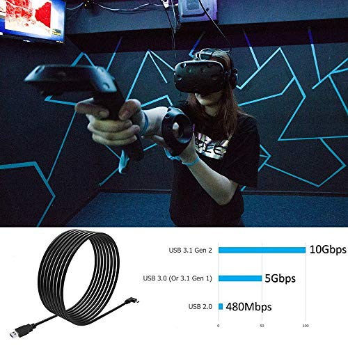 Oculus Quest Link Cable 16ft, dethinton Quest Link Cable High Speed Data Transfer & Fast Charging USB C Cable Compatible for Oculus Quest Headset and Gaming PC…